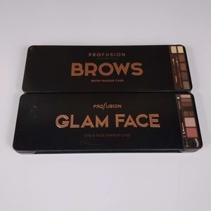 Profusion brow and glam face travel cases new